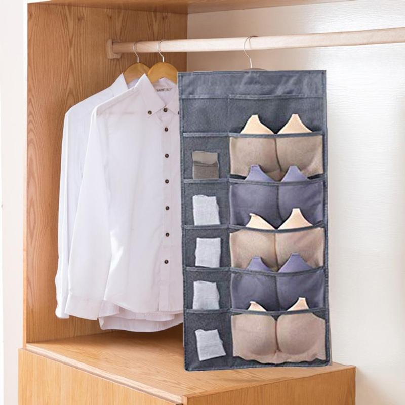 Multifunction Folding Clothing Storage Bag Clear Hanging Bag Socks Bra  Underwear Rack Hanger Storage Bags Organizer For Wardrobe|Hanging  Organizers| - AliExpress