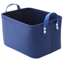 Foldable Laundry Basket Felt Toy Book Storage Basket Dirty Clothes Toys Holder Container Desktop Living Room Bathroom Organizer