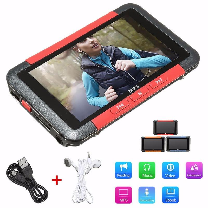 3 inch Slim LCD HD 720P MP5 Video Music Media Player FM Radio 1280 x 720 Support MP3 AAC WMA WMV FLAC MIC Recording
