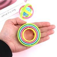 Anillo giratorio antiestrés para niños y adultos, juguete de descompresión para la yema del dedo