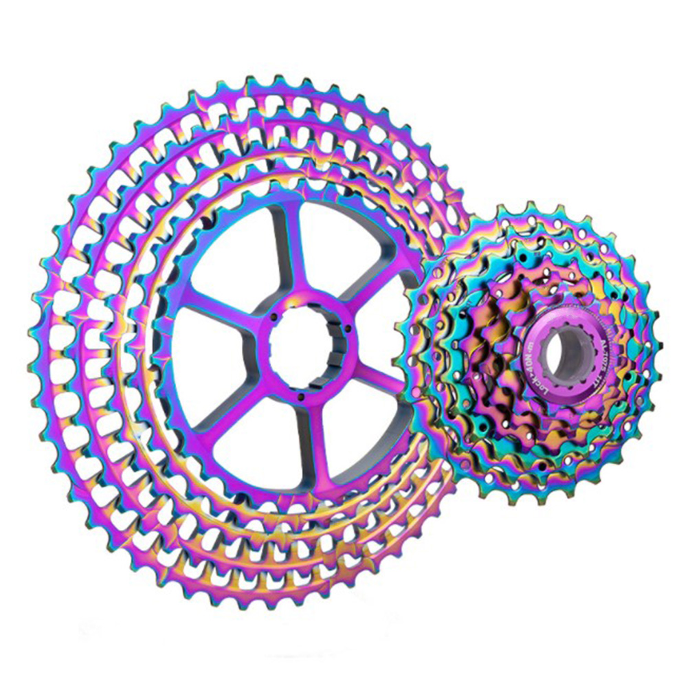 12 Speed Ultralight Riding Freewheel <font><b>Cassette</b></font> Cycling Mountain Bike Rainbow Accessory Replacement Sprocket Parts For Shinnano HG image