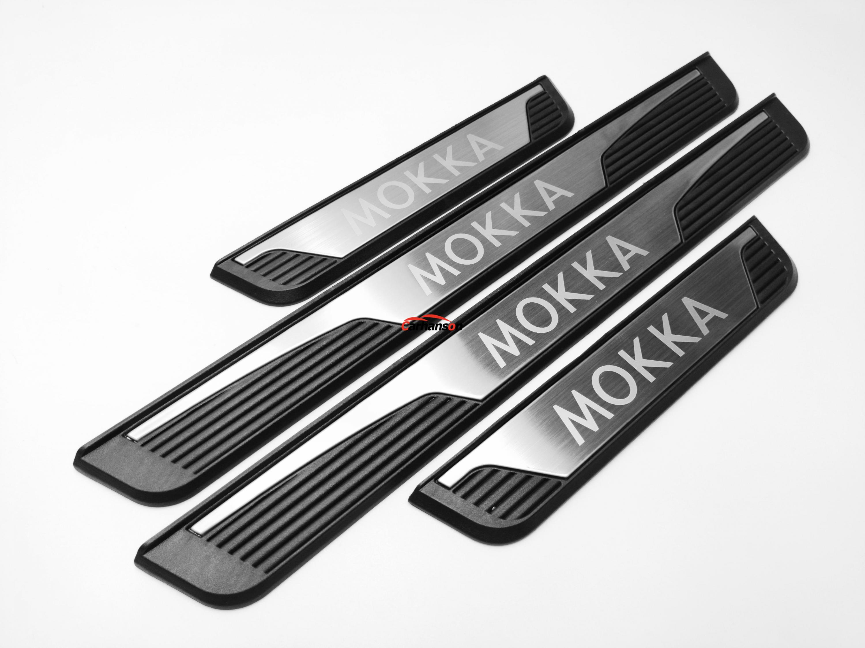 For Sticker Opel Vauxhall Mokka Car Accessories Door Sill Plate Stainless Steel Protector Cover Auto Styling Styling 2013 2020|Nerf Bars & Running Boards|   - title=