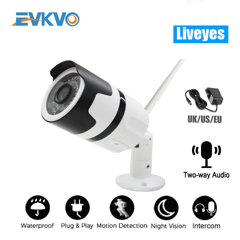 <font><b>1080P</b></font> Two Way audio <font><b>Wifi</b></font> <font><b>IP</b></font> Camera <font><b>Onvif</b></font> Outdoor Weatherproof Infrared Night Vision Security Video Surveillance Camera Liveyes image