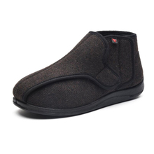 Brown Widen New Wool Shoes Fat Swelling Deformation Hallux Valgus Foot Wide Elder Diabetes Shoes magic Warm fleece Velcro shoes middle aged and elderly people with cotton cotton diabetes shoes foot swelling variable foot care shoes bunion gout shoes