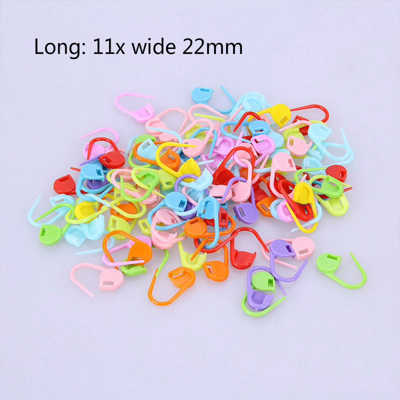 100Pcs Colorful Plastic Knitting Needles Crochet Locking Stitch Markers Crochet Latch Knitting Clip Sewing Tools C1010 a in Sewing Tools Accessory from Home Garden