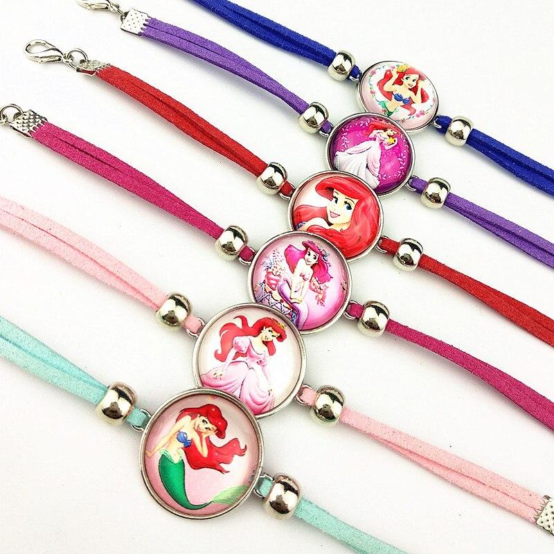24 шт новые стили мультфильм кукла красочные бусы стеклянные браслеты ожерелье брелок кольцо серьги ювелирные изделия серии для девочек - Окраска металла: С латунным покрытием