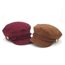 אביב ובסתיו מוצק צבע Newsboy Caps לנשים בציר פוקסיה גמל נוח חם קלאסי כובעי טמפרמנט נשי 2019