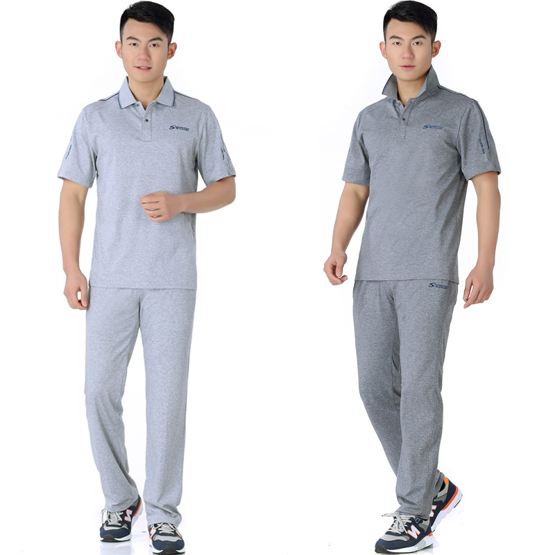 Middle-aged Casual Large Size Sports Clothing Set Breathable Jogging Suits Large Size Loose-Fit Two-Piece Set Men'S Wear
