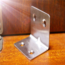 2Pcs 31*38mm Thick stainless steel corner triangle bracket fixed angle chair 90 degree right angle цена