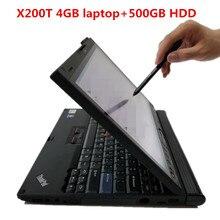 X200T dla l. Lenovo X200T 4GB Laptop z 500 HDD Window7 może pracować przez diagnostyczne oprogramowanie alldata/mb gwiazda c4 c5 c6 / icom