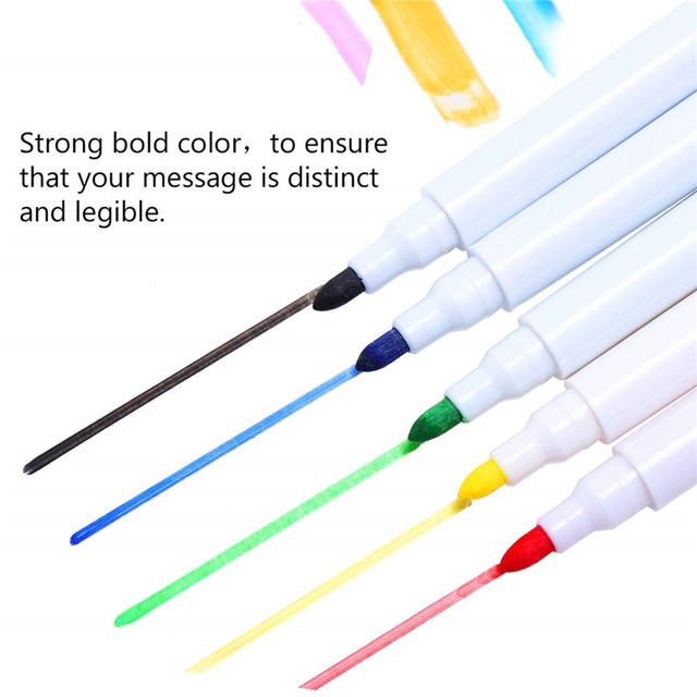 8pcs water-colour brush Whiteboard Marker Pens White Board Dry-Erase Pen with Eraser Magnetic Markers Writing Water Color Pen 4