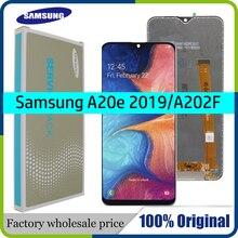Pantalla LCD Original de 5,8 pulgadas para Samsung Galaxy A20e, A202, A202F, A202F/DS, montaje de digitalizador de repuesto y paquete de servicio