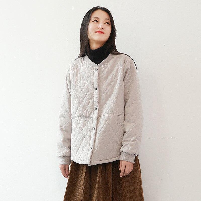 Nouveau hiver 2019 coton manteau femme veste vêtements pour femmes chaud hiver manteau Patchwork bouton Stand Parkas manteaux