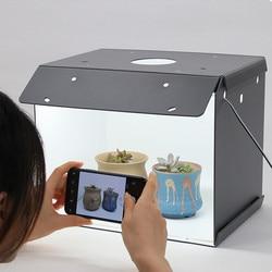 SANOTO  2 panels LED mini photography table top light box foldable portable photo studio Softbox shootting tent Backdrop kit