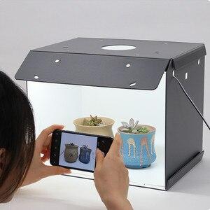 Image 2 - SANOTO Мини Настольный светодиодный светильник с 2 панелями, складной портативный софтбокс для фотостудии, шатер фон для съемки