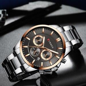Image 3 - Reloj Hombresแบรนด์หรูCURREN Quartz Chronographนาฬิกาผู้ชายนาฬิกาสแตนเลสสตีลนาฬิกาอัตโนมัติวันที่