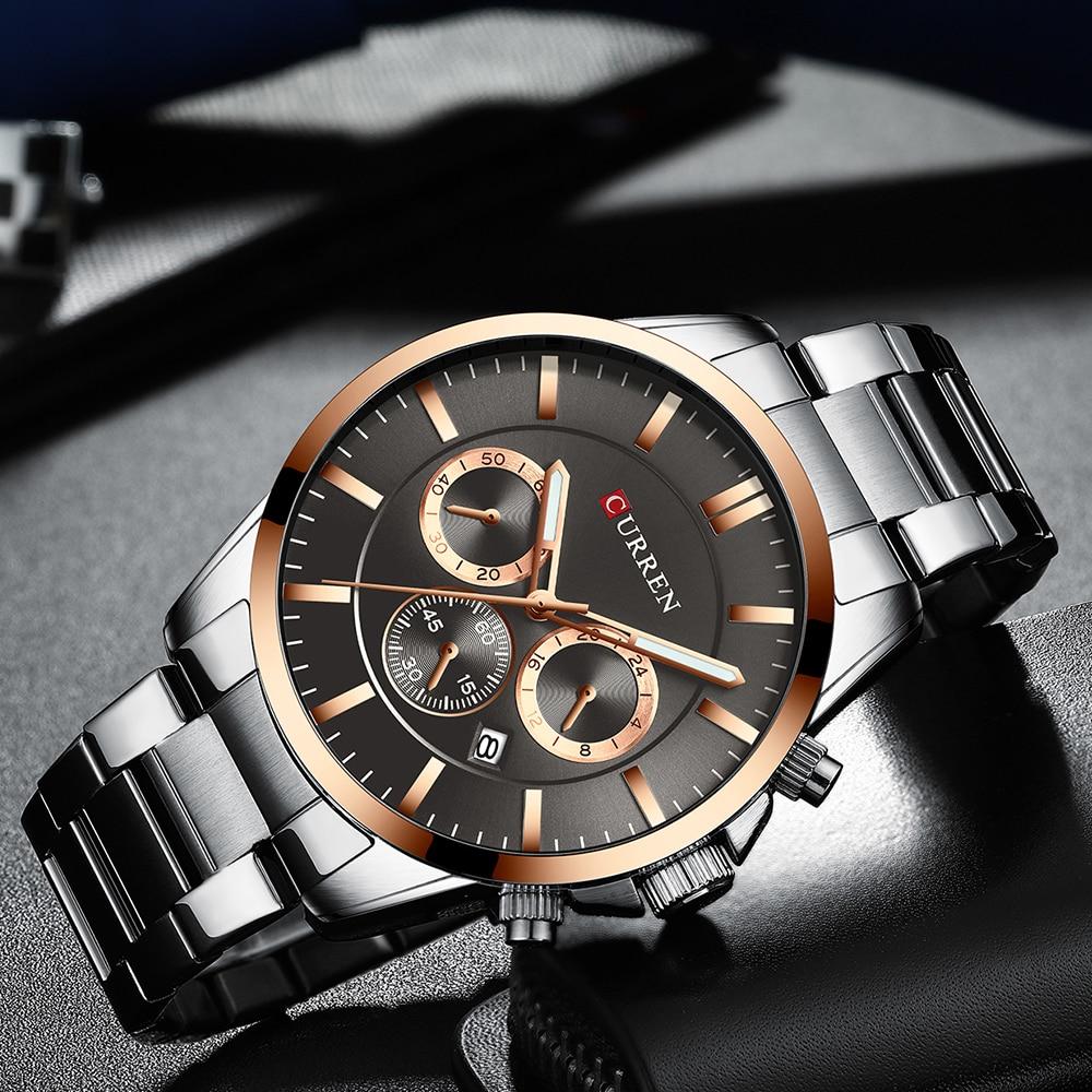 Image 3 - Reloj Hombres Luxury Brand CURREN Quartz Chronograph Watches Men Causal Clock Stainless Steel Band Wrist Watch Auto DateQuartz Watches   -