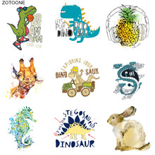 ZOTOONE Dier Dinosaurus Konijn Patch Ijzer op Transfers voor Kleding T-shirt Diy Dragon Stickers Applicaties Heat Transfers G(China)