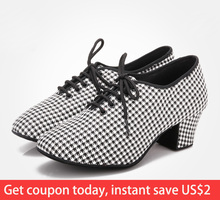 2019 Latin Dance Shoes For Women Teachers Shoe Girls Ladies Leather Ballroom Waltz Tango Foxtrot Quick Step BD