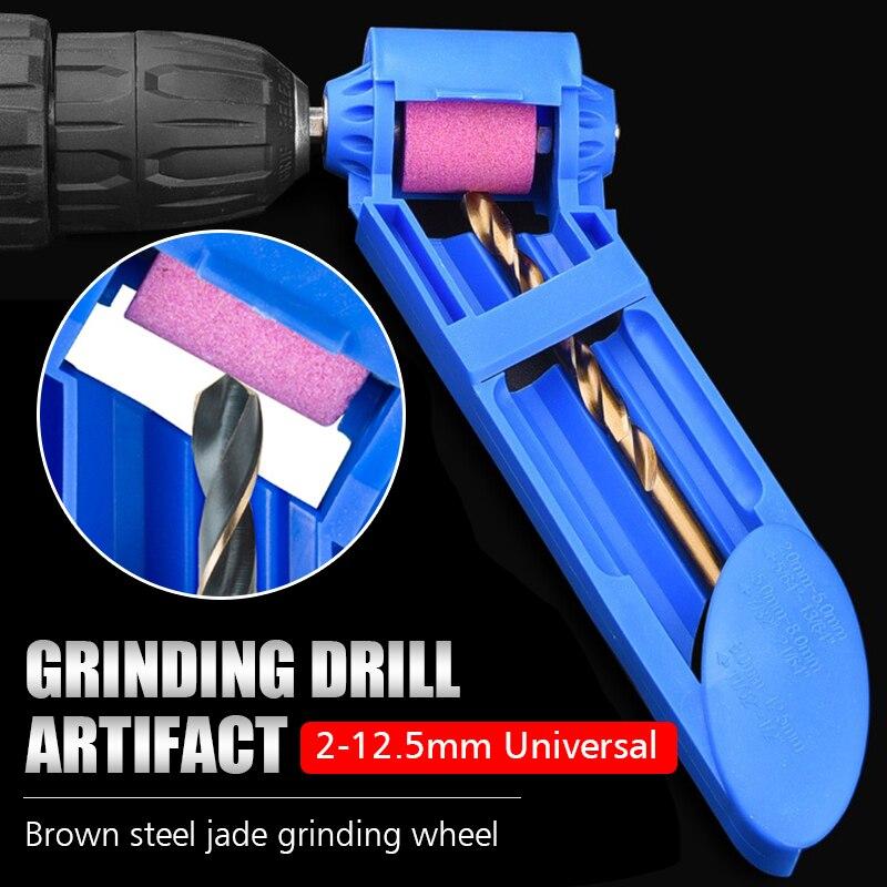 Afilador de brocas para taladro portátil, afilador de brocas de 2-12,5mm, herramientas eléctricas