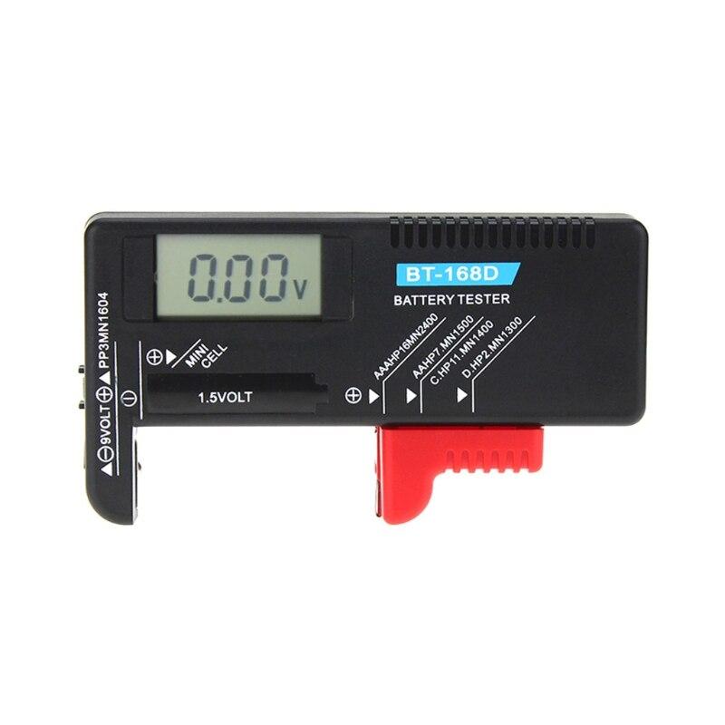 Bt168d Digital Battery Capacity Tester Lcd For 9v 1.5v Aa Aaa Cell C D Batteries J6pc