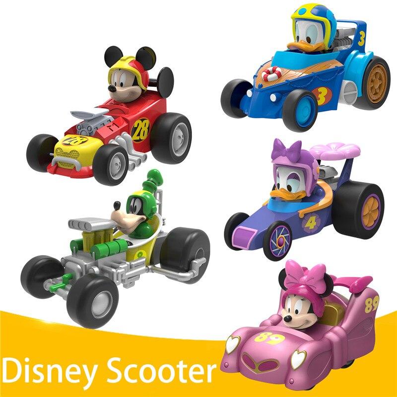 Оригинальный детский мультяшный игрушечный автомобиль Disney, Микки, Минни, Дональд, утка, Дейзи, гофи, модель автомобиля, детский праздничный ...