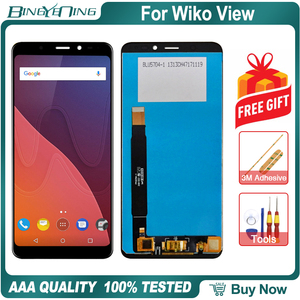 Image 1 - New Original For Wiko View LCD&Touch screen Digitizer display Screen module accessories Assembly Replacement Tools