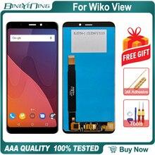 Yeni orijinal Wiko görünüm için LCD ve dokunmatik ekran Digitizer ekran modülü aksesuarları montaj değiştirme araçları