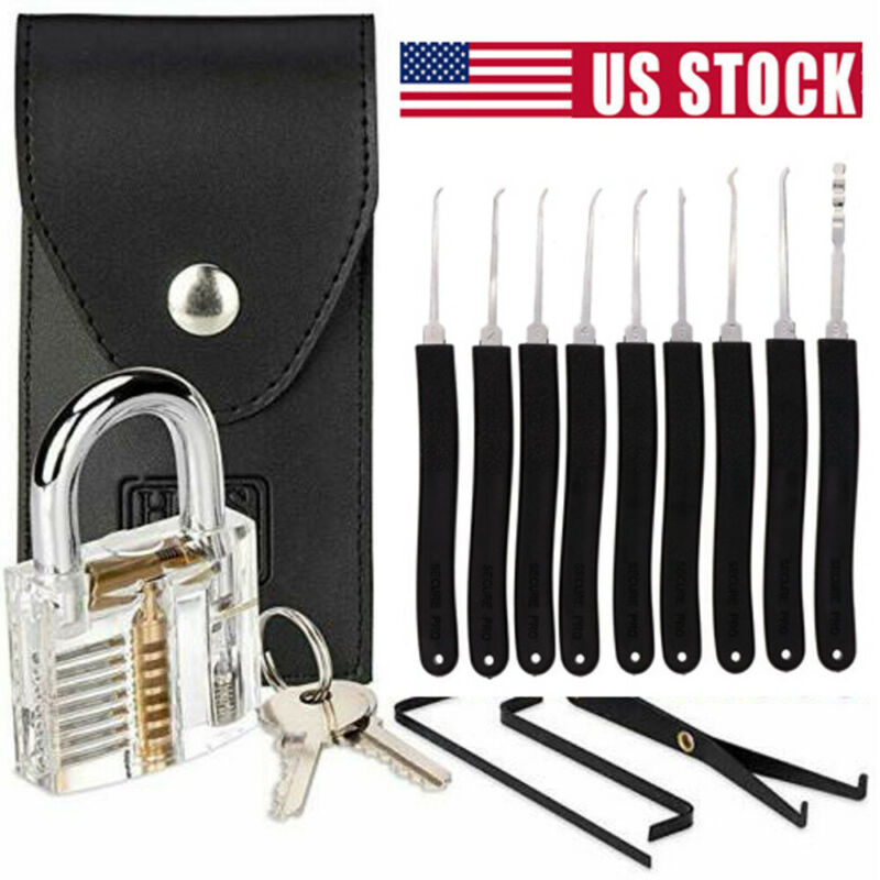 11PCS Broken Key Extractor Removal Hooks Lock Needle Locksmith Tool Kit Set