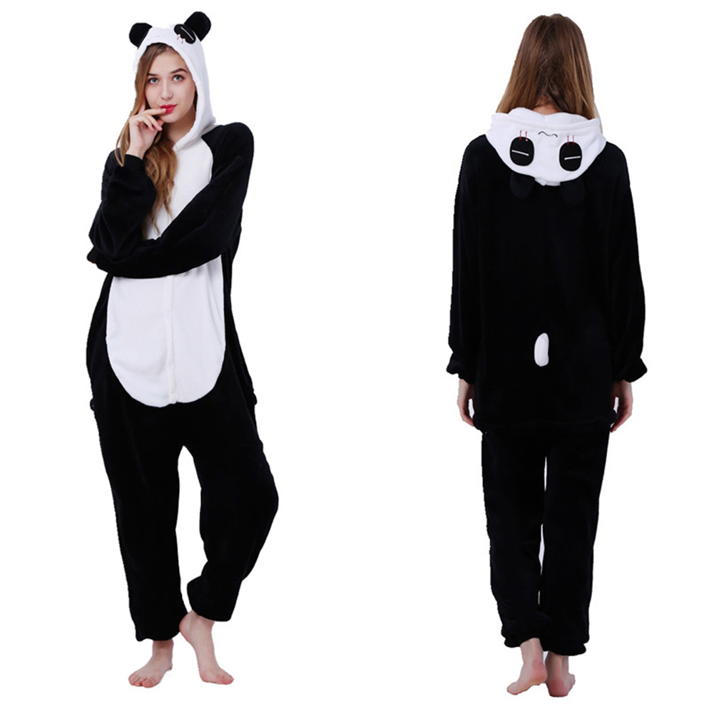 2020 New Arrival Pajamas Women Flannel Cartoon Cute Panda Animal Pajamas Sets Women Winter Sleepwear Nightie Pyjamas Home Wear