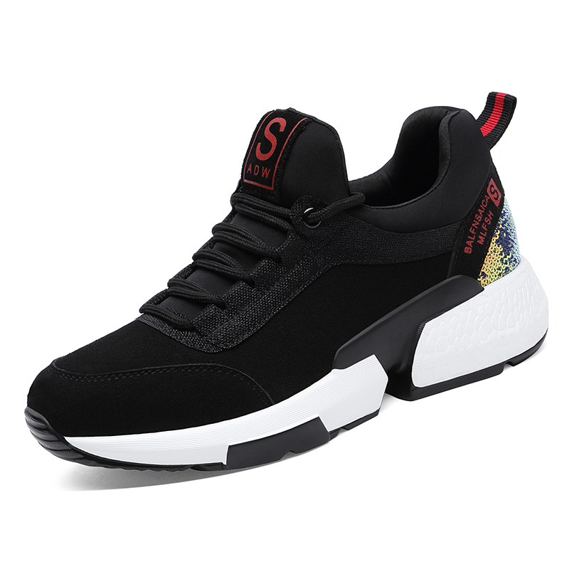Hot Sale 2019 New Fashion Women Sneakers Flats Shoes Black Shoes Ladies Platform Comfortable Breathable Tenis Feminino B0040 in Women 39 s Vulcanize Shoes from Shoes
