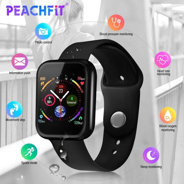 ساعة ذكية P70 للنساء ، ساعة ذكية مقاومة للماء مع التحكم في معدل ضربات القلب وبلوتوث لأجهزة Apple IPhone و Xiaomi ، PK P68 P80 ، 2019
