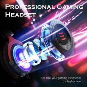 Image 4 - Casque de jeu EKSA casque de joueur filaire 3.5mm sur casque doreille avec micro antibruit pour contrôleur PC/Xbox/PS4