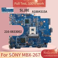 For SONY MBX 267 S1204 2 A1884315A HM75 216 0833002 DDR3 Notebook motherboard Mainboard full test 100% work