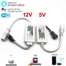 Controle mágico led wifi ios, controle android e alexa google assistente por wi fi ws2811 sk6812 ws2812b tira de led