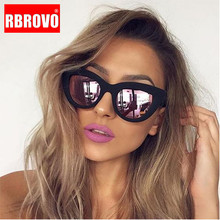 RBROVO 2019 Vintage Sunglasses Women/Men Cat Eye Luxury Sun Glasses Classic Shop