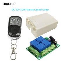 Qachip 433Mhzไร้สายรีโมทคอนโทรลสวิตช์DC12V 4CHรีเลย์โมดูลเครื่องส่งสัญญาณDIY LEDมอเตอร์ประตู