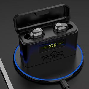 Image 1 - 真ワイヤレスイヤフォン tws led disply bluetooth イヤホン 5.0 bluetooth ワイヤレスヘッドフォンスポーツヘッドセット