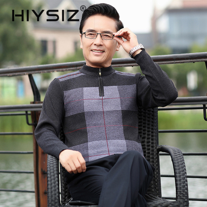 HIYSIZ Brand Sweater Men O-Neck Knitwear Pullover Men Ripeness Fashion Autumn Winter Sweaters Jersey Hombre Clothes H3002