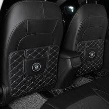 1pc Car Anti-Kick Pad Car Waterproof Anti Mud Dirt Seat Back Protector Cover for Skoda Octavia Fabia Rapid Yeti Kodiaq Superb Oc