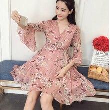 Новинка 2020 весенне летнее женское шифоновое платье мини с