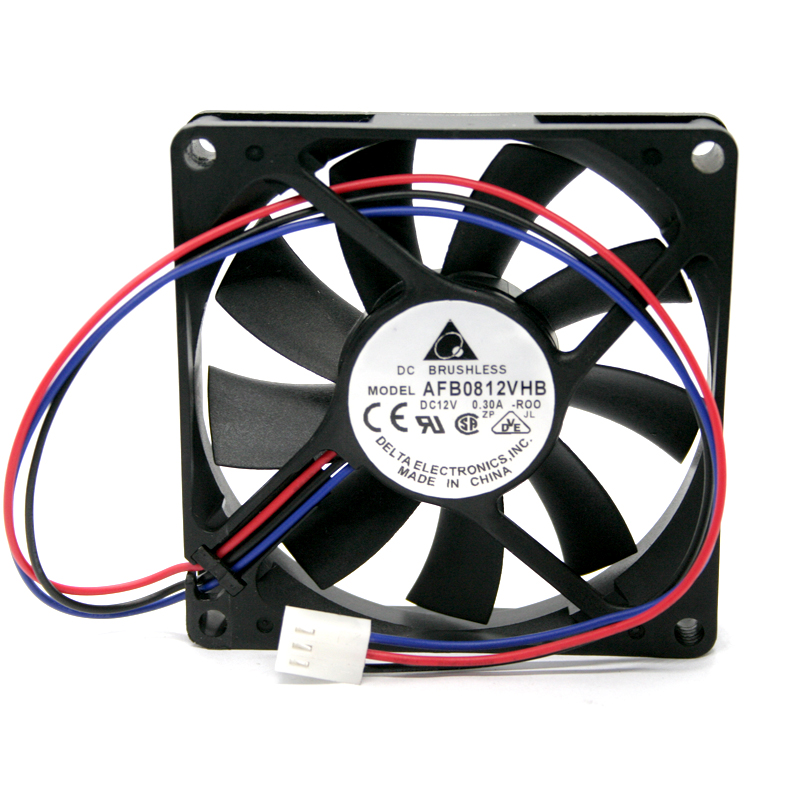 Delta 8015 AFB0812VHB DC 12V 0.30A 8cm <font><b>80X80X15</b></font> Mm Double Ball Bearing Cpu Computer Case Cooling <font><b>Fan</b></font> image