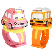 Assemble Car Watch Toy with Press Control for Music Light Wrist Watch