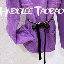 SPENNEOOY 2020 Designer Custom Runway Accessories Belt Waist Chain Women's Genuine Leather Bow Fashion Female