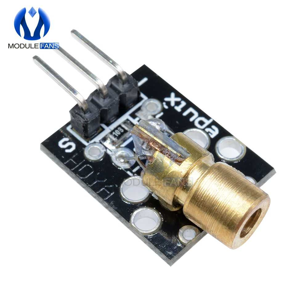 650nm 5V rouge capteur Laser 6mm 5mW Module émetteur KY-008 point Diode cuivre tête pour Arduino Compatible avec UNO R3 MEGA 2560