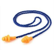 Tapones de silicona con cable para los oídos, Protector reutilizable para auriculares con reducción de ruido, 10 Uds.