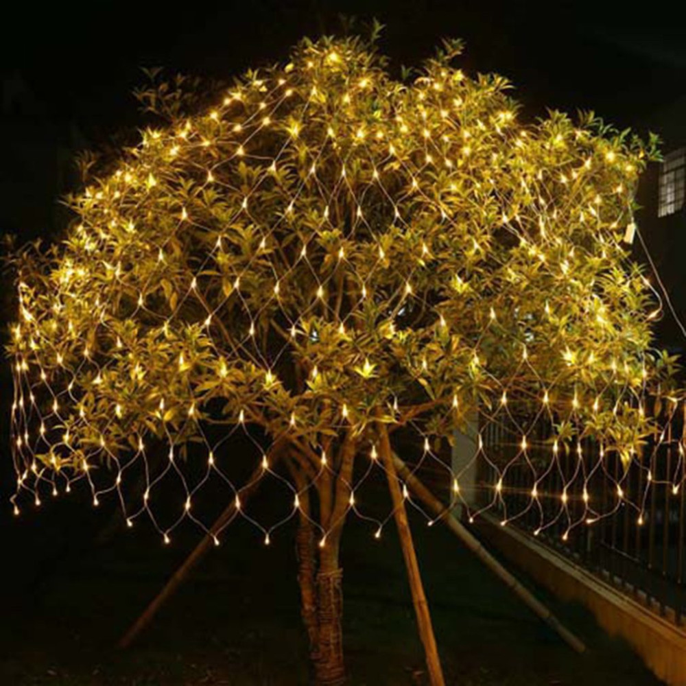 Outdoor 204 LED String Light Multi Color Waterproof Fishing Net Mesh Holiday Decoration Light For Wedding Party