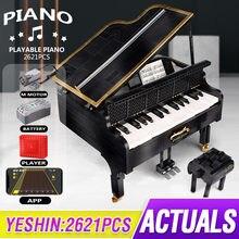 APP Programmierung Fernbedienung Die Hohe-Tech 21323 Playble Grand Piano Set Bausteine Ziegel Kinder Weihnachten Geschenke Spielzeug