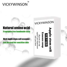 VICKYWINSON Apple stem cell essenz aminosäure seife 50g kalten prozess seife Handgemachte Feuchtigkeits Erhellen Gesicht Körper Reinigung Seife cheap CN (Herkunft) Handgemachte Seife SGZ17