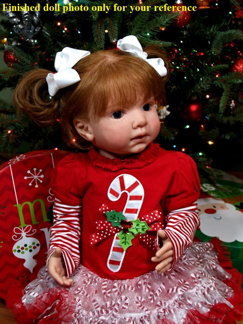 NPK Hotselling 28inches LEONTYNE Soft Silicone Vinyl Reborn Toddler Doll Kit DIY Unpainted Blank Kit